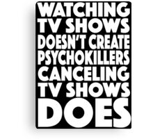 tv shows Canvas Print