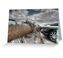Rust and Chains.  Greeting Card