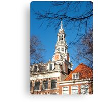 Keeping track of time and history... Zuiderkerk Tower Amsterdam Canvas Print