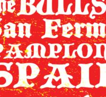 Running of the Bulls Sticker
