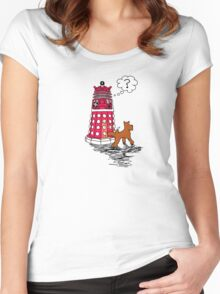 DALEK RELIEF Women's Fitted Scoop T-Shirt