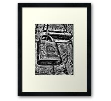Random Lock Framed Print