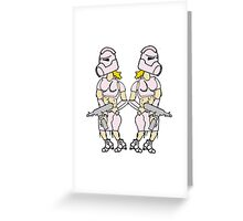 Pink Trooper Greeting Card