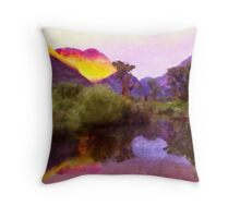 Beaver Pond Sunrise Throw Pillow