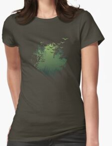 in the forest Womens Fitted T-Shirt