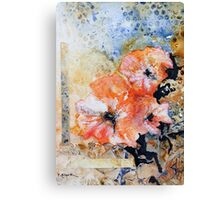 Holly hock series 2 Canvas Print