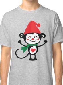 Cute monkey Santa Claus Classic T-Shirt