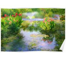 Watergarden In Monet Style Poster
