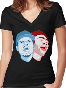 childish gambino hat Women's Fitted V-Neck T-Shirt