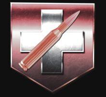 COD ZOMBIES: Juggernog - Realistic Metal Logo by Trey Anderson