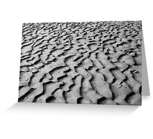 Paterns in the sand  Greeting Card