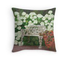 Garden Oasis Throw Pillow