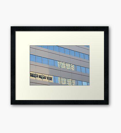 Reflections Of Denver Framed Print