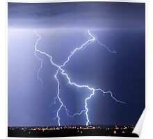X Lightning Bolt in the Sky Poster