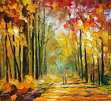 AFTERNOON SUN - original oil painting on canvas by Leonid Afremov by Leonid  Afremov