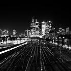 Melbourne Skyline II by Janis Möller