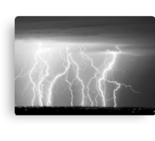 Eletric Skies in Black and White  Canvas Print