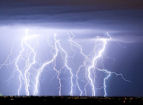 Crazy Lightning Skies by Bo Insogna