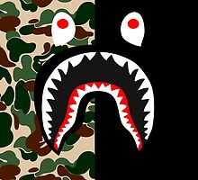 bape shark miltblack by goldney09