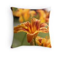 Orange Lily 1 Throw Pillow