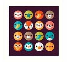 Smiley Faces Art Print