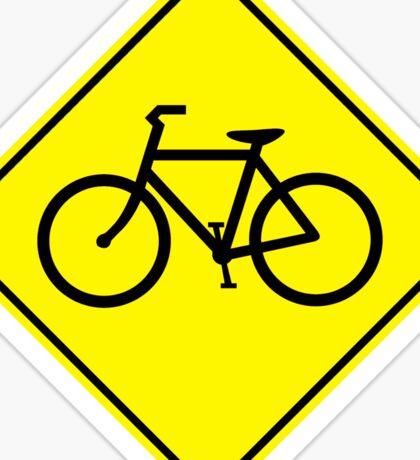 Bicycles Yellow Diamond Warning Road Sign Sticker Sticker