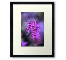 """""""To have faith...""""  Framed Print"""