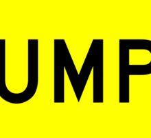 Bumps Yellow Diamond Warning Road Sign Sticker Sticker