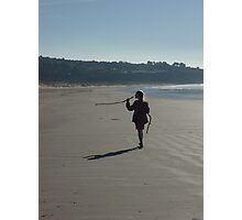 In her own world on Harlech beach Photographic Print