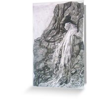Gordale Waterfall Greeting Card