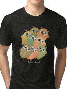 Cartoon watercolor owls. Tri-blend T-Shirt