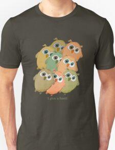 Cartoon watercolor owls. T-Shirt