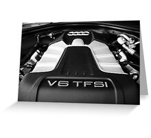 Audi V6 TFSI Greeting Card