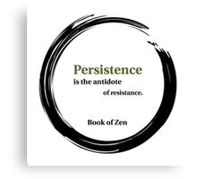 Motivation and Persistence Quote Canvas Print