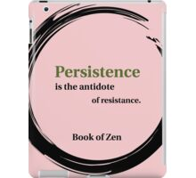 Motivation and Persistence Quote iPad Case/Skin