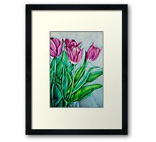 Fractured Tulips Framed Print