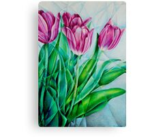Fractured Tulips Canvas Print