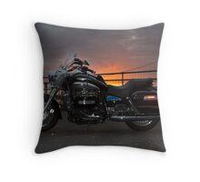 Sunset Rider Throw Pillow