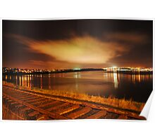 A Night Landscape of Derry City Poster
