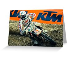 Motocrosser in a turn Greeting Card