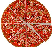 New York Pizza Pie stencil graffiti by rolandhill90