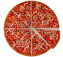 New York Pizza Pie stencil graffiti Photographic Print