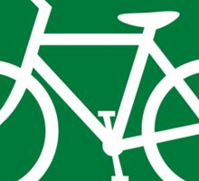 Bicycles Road Sign Die Cut Sticker Sticker