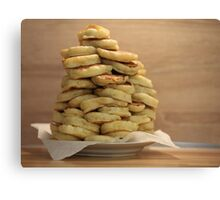 pile of pancakes on a plate Canvas Print