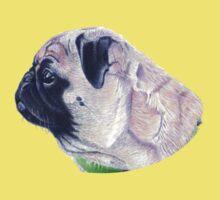 Pug Portrait T-shirt or Hoodie Kids Clothes