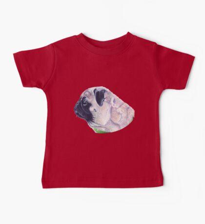Pug Portrait T-shirt or Hoodie Baby Tee