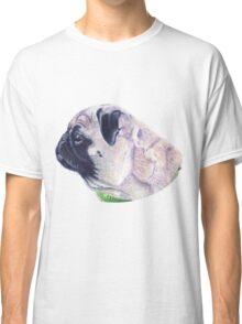 Pug Portrait T-shirt or Hoodie Classic T-Shirt