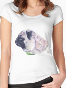 Pug Portrait T-shirt or Hoodie Women's Fitted Scoop T-Shirt