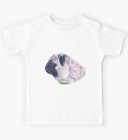 Pug Portrait T-shirt or Hoodie Kids Tee