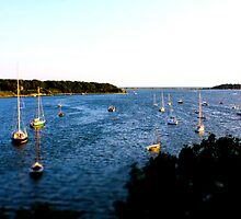 Ships In The Bay Cotuit, MA By Jonathan Green by Jonathan  Green